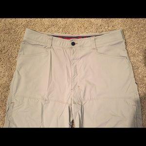 Wrangler multi pocket khaki shorts 38 nylonspandex